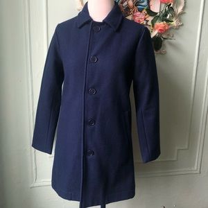 American Apparel wool blue coat.